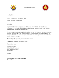 Sample Letter Asking For Business by Letter Of Request