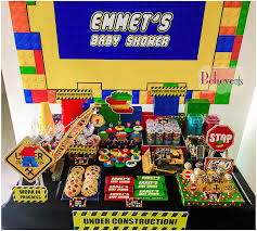 construction baby shower lego construction baby shower baby shower ideas themes