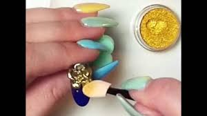 3d nail art sculpted gold rose using opaline dust youtube