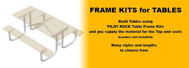 Build A Picnic Table Kit by Picnic Tables Frame Kits Only Series Pilot Rock