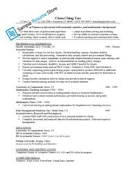 Internship Resume Examples Actuarial Internship Resume Resume For Your Job Application