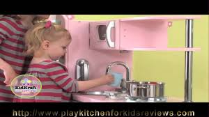 kidkraft pink vintage kitchen 53179 review how to play kitchen for
