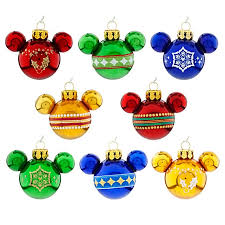 ornament set mini mickey mouse ears rainbow
