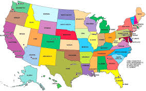 usa map south states capitals us map inside states and of usa region wise all world maps