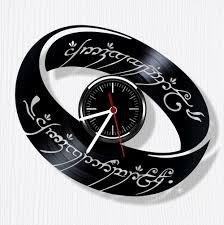 lord of the rings vinyl wall clock beautiful handmade vinyl wall