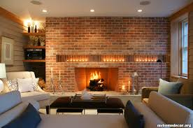 home decor with candles off set brick filled in with built in shelves candles on the