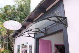 Clear Awnings For Home Ds100200 A 100x200cm Depth 100cm Width 200cm Black Aluminum