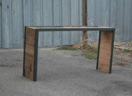 Sofa Table Oak by Combine 9 Industrial Furniture U2013 Rustic Furniture U2013 Distressed