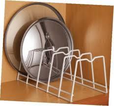 kitchen cabinet plate storage kitchen cabinet plate rack lid organizer dish storage pan holder