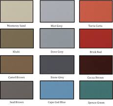 Stain Color Chart Concrete Coating Color Chart Wall Coating For Brick And Concrete