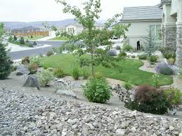 simple front yard rock landscaping rocky yard will please your