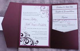 pocket fold pocketfold wedding invitation cloveranddot