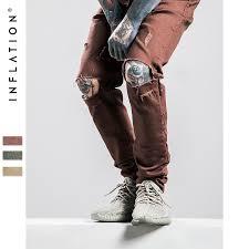 Mens Destroyed Skinny Jeans Aliexpress Com Buy Inflation Silm Jeans Fear Of God Men
