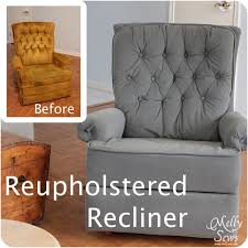 How Much Fabric To Upholster A Sofa Project Redecorate Reupholster A Recliner Melly Sews