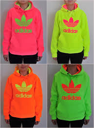 adidas trefoil women neon sweatshirt hoodie neon green amazon