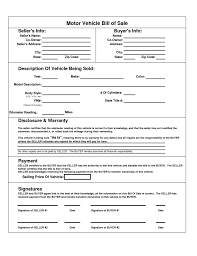 printable vehicle bill of sale bill of sale template for car pdf mickeles spreadsheet sample