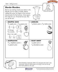 blender blunders u2013 5th grade math worksheets u2013 jumpstart