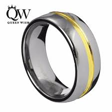 two tone wedding rings queenwish 8mm dome tungsten carbide two tone wedding ring band 24k
