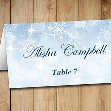 winter wedding place cards template from paintthedaydesigns on