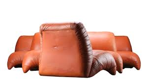Modern Leather Lounge Chair Mid Century Modern Lounge Chair In Cognac Leather For Sale At Pamono