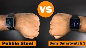 pebble watch amazon black friday pebble steel vs sony smartwatch 3 youtube