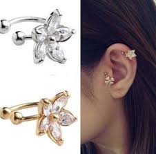 cheap clip on earrings fashion jewelry ear cuff wrap rhinestone cartilage clip on earring