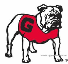 uga stick on standing bulldog face tattoo decals