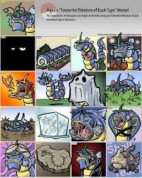 Favorite Pokemon Meme - the pokemon world my favorite pokemon of each type