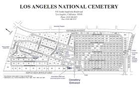 Arlington National Cemetery Map Los Angeles National Cemetery Plot Map And Photos