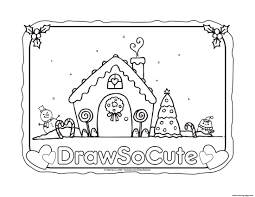 gingerbread coloring page gingerbread house draw so cute coloring pages printable