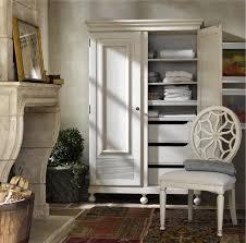 White Armoire Wardrobe Bedroom Furniture Sojourn French Country White Armoire Wardrobe Zin Home
