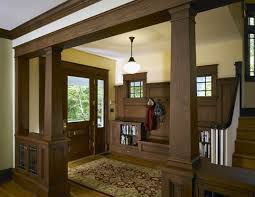 arts and crafts homes interiors arts crafts craftsman bungalow home foyer detail