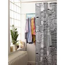 city sketch shower curtain black opaque room essentials target