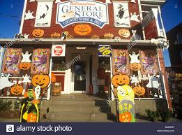 country halloween decorations country store in williamstown vt covered with halloween