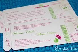 Boarding Pass Wedding Invitations Diy Boarding Pass Invitation Save The Date Aylee Bits