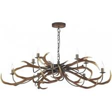 rustic ceiling lights uk large uk made stag anter ceiling light hanging on chain 10 candle bulbs