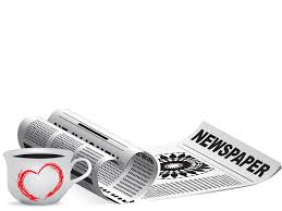 newspaper theme for ppt newspaper with coffee ppt backgrounds design educational foods