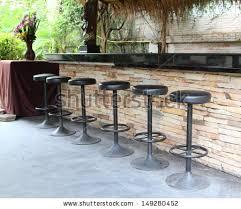 outdoor bar counter bar stools stock photo 149280452 shutterstock