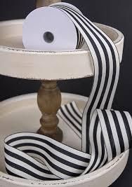 black and white striped ribbon ivory striped ribbon 2 5 x 10 yards