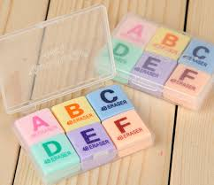 English Christmas Gifts - sale abc english letter erasers supplies students