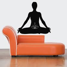 online get cheap meditation room decor aliexpress com alibaba group hot sale home wall decoa wall decal yoga meditation wall sticker removable wall mural vinyl art room decoration wallpaper y 366