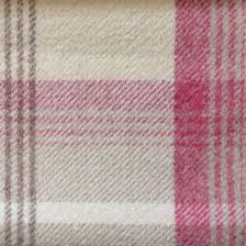 Pink Tartan Curtains Balmoral Cranberry Pink Tartan Wool Feel Ps From Fabrics