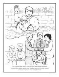 jesus baptized free coloring coloring pages