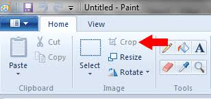 how do i paste and crop an image in microsoft ms paint