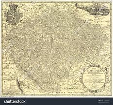 Bohemia Map Old Map Bohemia 1720 Stock Photo 12962242 Shutterstock
