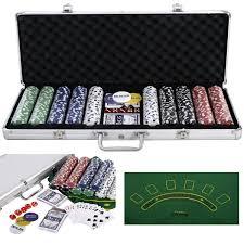 Big Blind Small Blind Poker Set 500 Texas Hold Em Chips Case Casino Poker Chips U0026 Sets