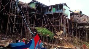 Homes On Pilings by River Stilt Houses In Cambodia Youtube