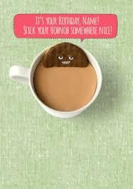 shut your cake hole birthday card hobnob and tea funky pigeon
