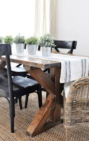 black farmhouse table with bench tags unusual traditional