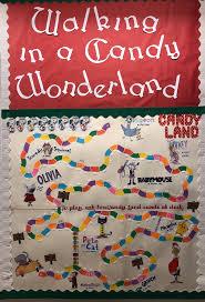 created an interactive candy land board game bulletin board lots